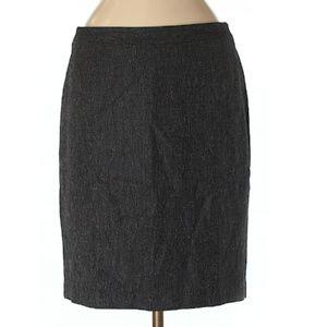 Ann Taylor Charcoal Herringbone Skirt